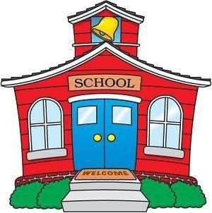 cartoon picture of a school house