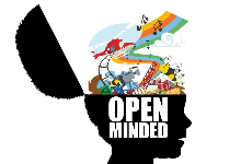 open mind with things coming out of it