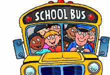 school bus with driver and children